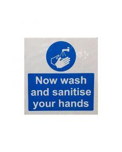 Wash Your Hands Sticker (150mm x 150mm)