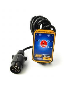 Towbar socket tester, 7 pin, 3.5m. cable