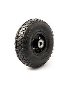 Pneumatic wheel with black steel rim