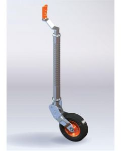 Kartt heavy duty ribbed auto lift Jockey Wheel,