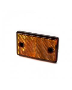 Reflector, rectangular, amber, stick on