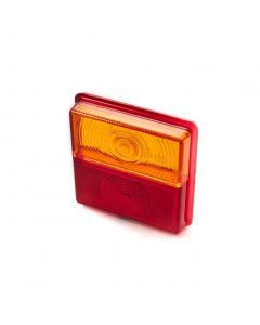 Lens red/amber for Rubbolite M203 lamp