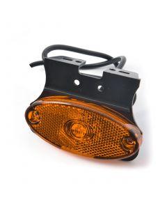LED amber side marker lamp with angle bracket