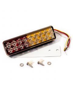 LED Autolamps 135ARME slimline rectangular rear lamp, 12-24v