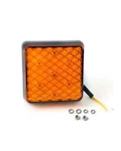 LED Autolamps 81AMB square indicator lamp, 12v-24v.