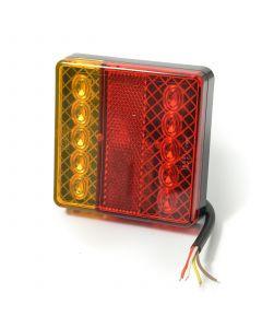 TT LED square lamp 4 function, 12v.