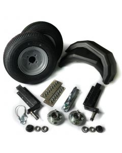 """Trailer kit 500kg. with standard stubs and 10"""" wheels"""