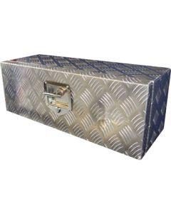 Toolbox Aluminium Checker Plate 26 x 9 x 9 inch