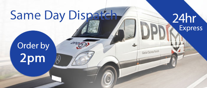 Same day dispatch - Internet Order before 2pm