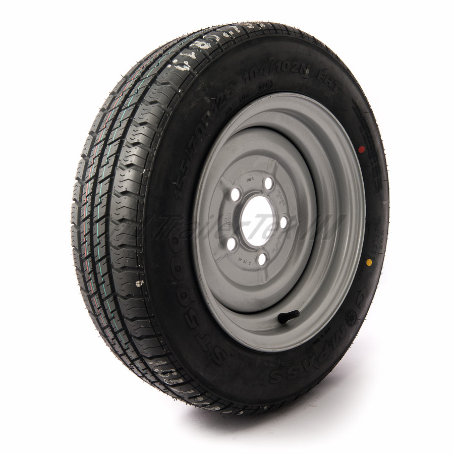 12 inch Trailer Wheel Assemblies