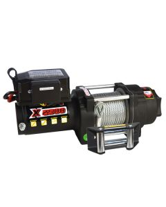 Prestige X2500 12V Electric Winch w/ Wire Rope