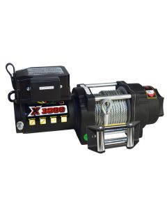Prestige X3500 12V Electric Winch w/ Wire Rope