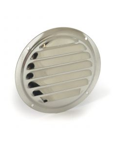 Stainless round louver vent panel