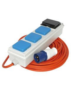 Mobile mains power unit, RCD protected