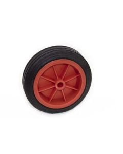 Jockey wheel spare wheel with PVC rim