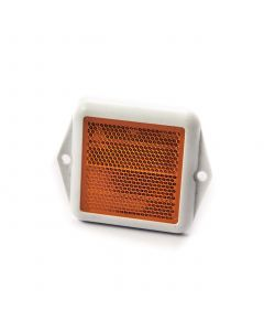 Reflector, square, amber screw on