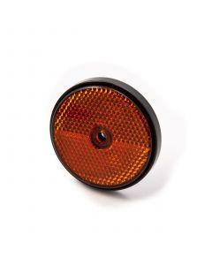 Reflector, round, amber, screw on