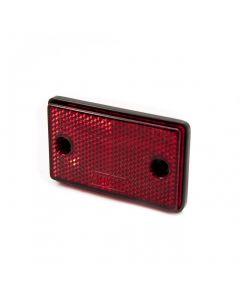 Reflector, rectangular, red, stick on