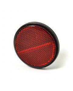 Reflector, round, red, stick on