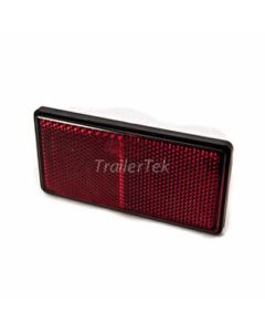 Reflector, rectangular, red, with PVC backing