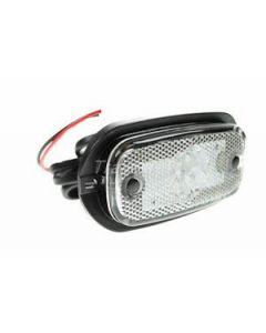 LED clear front marker light