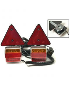 LED magnetic pods with triangles and 10m. cable