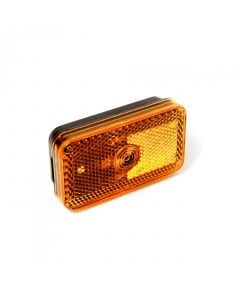 Amber side marker light with reflector