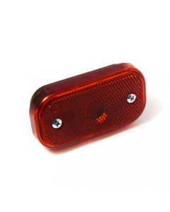 Red rear marker light with reflector