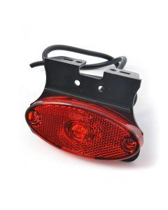 LED rear marker lamp with angle bracket