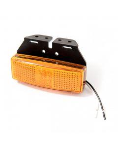 LED Autolamps 1491AM amber side marker lamp & bracket, 12v-24v