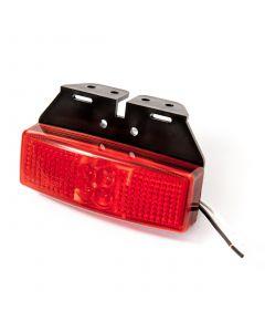 LED Autolamps 1491RM red rear marker lamp & bracket, 12v-24v