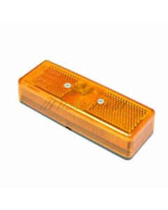 Radex amber side marker lamp 110x24mm. w/bulb