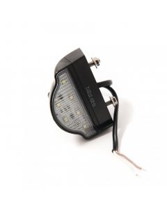 LED numberplate lamp 10-30v, rounded top with studs