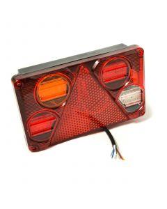 LED rectangular multi function LH rear lamp 10-30v.