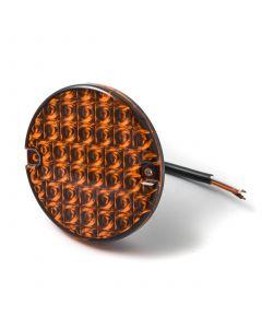 LED Autolamps round AMBER signal lamp, 12v-24v