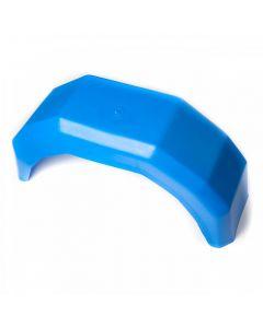 "Blue PVC Rounded Mudguard (13"" Single Axle)"
