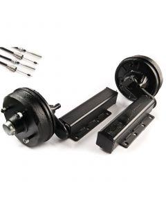 """Peak 1500 kg. braked suspension units 4 on 5.5"""""""