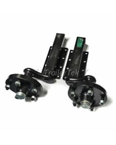 "Peak 750kg., unbraked, h/d suspension units c/w 8"" hubs with 5 on 6.5"" PCD"
