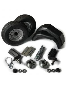 "Trailer kit 250kg. with standard stubs and 8"" wheels"