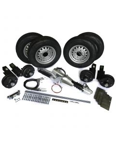 "Trailer kit 2600kg braked, twin axle, with 13"" wheels"
