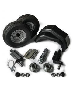 "Trailer kit 350kg. with standard stubs and 8"" wheels"