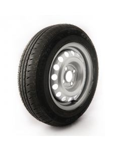 145/80 R13, 4 ply, 4J, 4 on 100mm. wheel assembly