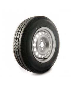 175 R14 C, 8 ply, 4 on 100mm. PCD wheel assembly
