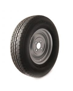 """Heavy duty, 8 ply tyre with 12"""" rim"""