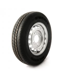 135/80 R13, 4 on 130mm. PCD wheel assembly